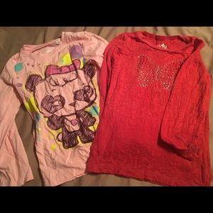 EUC 5/6 children's place long sleeved shirts